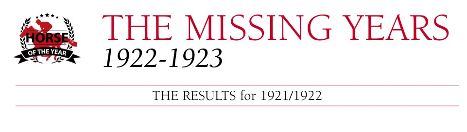 the missing years 1922-1923